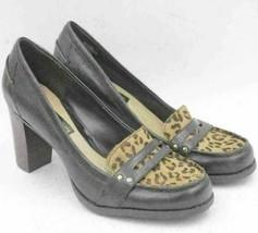 Bandolino Women Penny Loafer Heels Haidee Size US 6M Leopard Print - $13.50