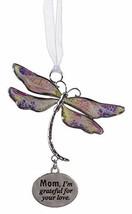 Gnz Inspirational Dragonfly Dreams Zinc Ornament -Mom - $8.86