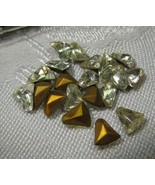 Bell Shaped Glass Rhinestones Crystal color 10 m/m Vintage NOS Western G... - $10.00