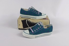 Vintage New Converse Kids 1 Longjohn Print A/S Canvas Ox Chuck Taylor Shoes Teal - $94.99