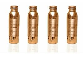 Beautiful Copper Water Bottle For Ayurvedic Health Benefits 900ml Set Of... - $53.40