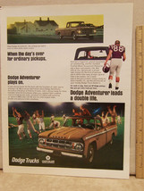 Vintage 1967 Magazine Ad for Dodge Trucks Adventure Chrysler - $5.93