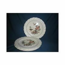 Set of 4 Vintage Wedgwood Salad Dessert Plates Eastern Flowers Etruria - $26.13