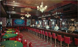 Chrome Postcard NV I531 Cancel 1960 Interior Golden Nugget Saloon Casino... - $7.25