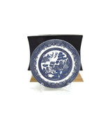 """vintage CHURCHILL England WILLOW Decorative Dinner Plate 10""""  Blue & Off White - $18.04"""