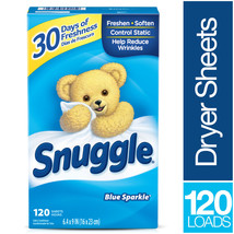 Snuggle Fabric Softener Dryer Sheets, Blue Sparkle, 120 Count - $13.54