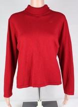 Lauren Ralph Lauren Donna Maglione a collo Alto Rosso Lana Merino Taglia... - $18.94