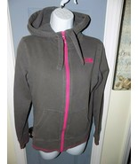 THE NORTH FACE HOODIE SWEAT JACKET FULL ZIP GRAY & PINK SIZE S WOMEN'S EUC - $24.30