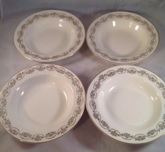 Homer Laughlin, Three Daisies, 1950's, Round Soup Bowl (FOUR) - $19.79