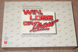 WIN LOSE OR DRAW TV SHOW GAME 1987 MILTON BRADLEY EXCELLENT - $12.00