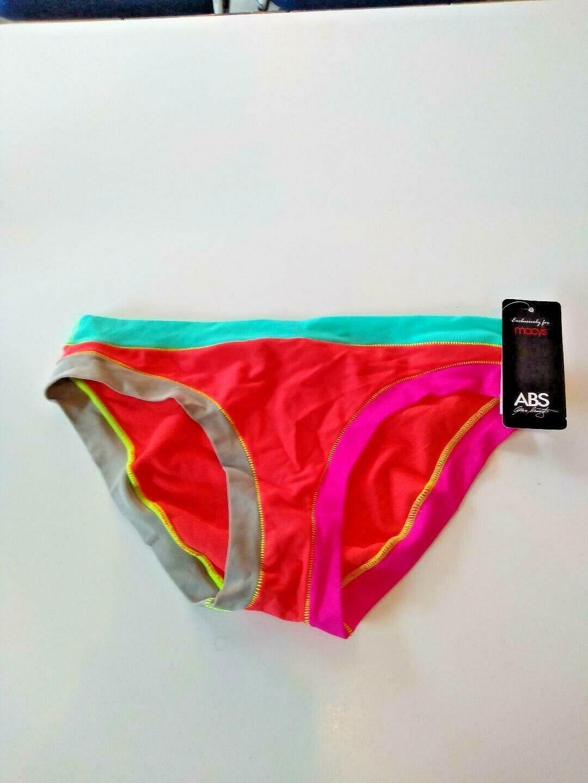 ABS By Macy Multi Color Bikini Bottom Size 10