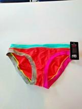 ABS By Macy Multi Color Bikini Bottom Size 10 image 1