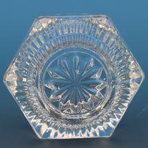 Antique EAPG Pressed Glass Open Salt Ribbed Pryramid image 3