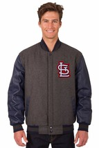St Louis Cardinals Wool & Leather Reversible Jacket with Embroidered Log... - $249.99