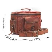 Genuine Leather Vintage Brown DSLR Camera Bag Best Gift For Men Women - $60.00