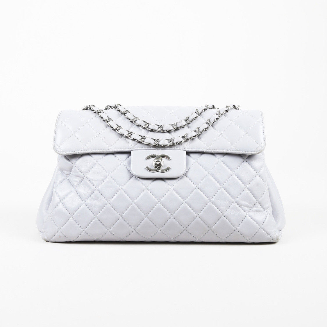 8c1193bfe1e5 Chanel Gray Quilted Leather Flap Bag and 47 similar items