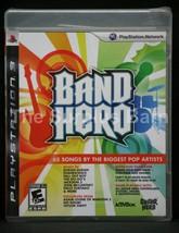 PS3 Band Hero 65 Songs Big Pop Artists Guitar Rock Game Brand New Factor... - $3.99
