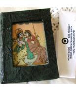 "Krishna Handmade Blank Journal Crushed Gemstones Painted On Glass 5""x4""x.5"" Book - £15.39 GBP"
