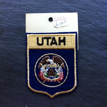 Utah State Shield Patch Embroidered New Old Stock~Souvenir Patch - $8.97