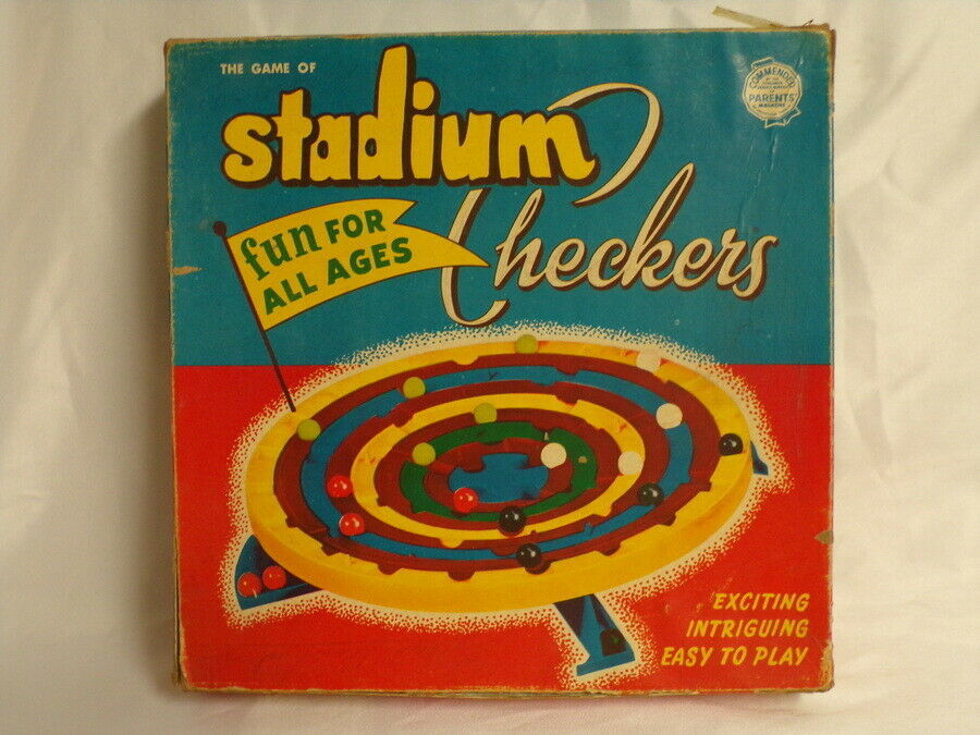Primary image for ORIGINAL Vintage 1952 Schaper Stadium Checkers Board Game