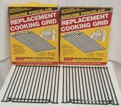 MHP CG40P Genuine Porcelain Replacement Cooking Grid Set of 2 Color Black image 1