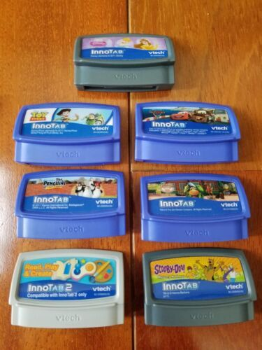 VTech InnoTab 2 Bundle Backpack Case 7 Games Scooby Doo Disney Cars 2 Toy Story