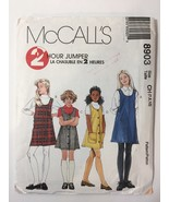 McCall's 8903 Size 7 8 10 Girls' Jumpers - $11.64