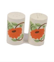Vintage 70s Mid Century Modern MCM Ceramic Poppy Flower Salt Pepper Shak... - $79.15