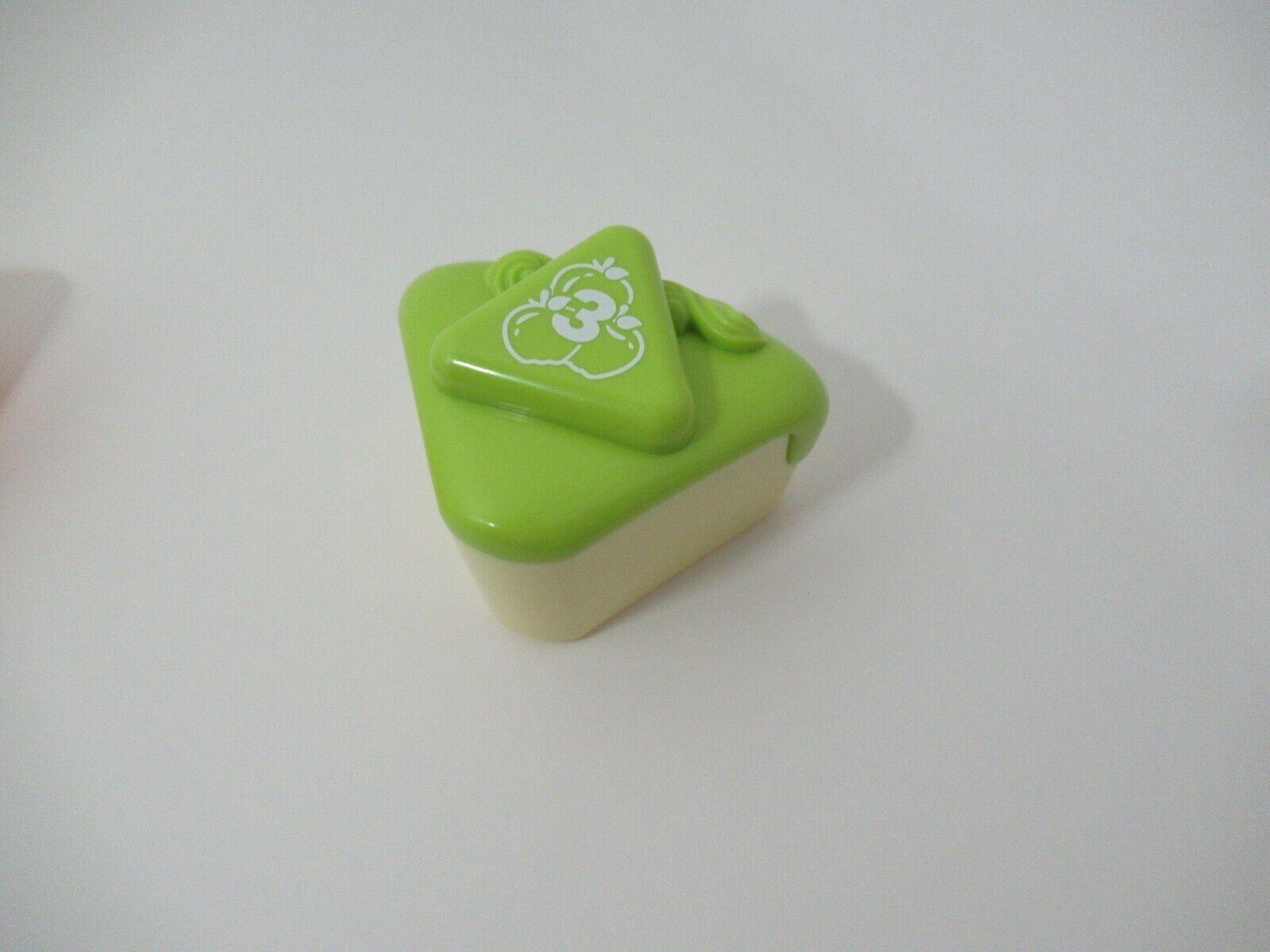 LeapFrog Musical Rainbow Tea Set Cake Slice Replacement Part green apple # 3 - $4.94