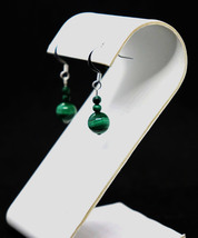 Malachite Bead Drop Earrings - €13,98 EUR