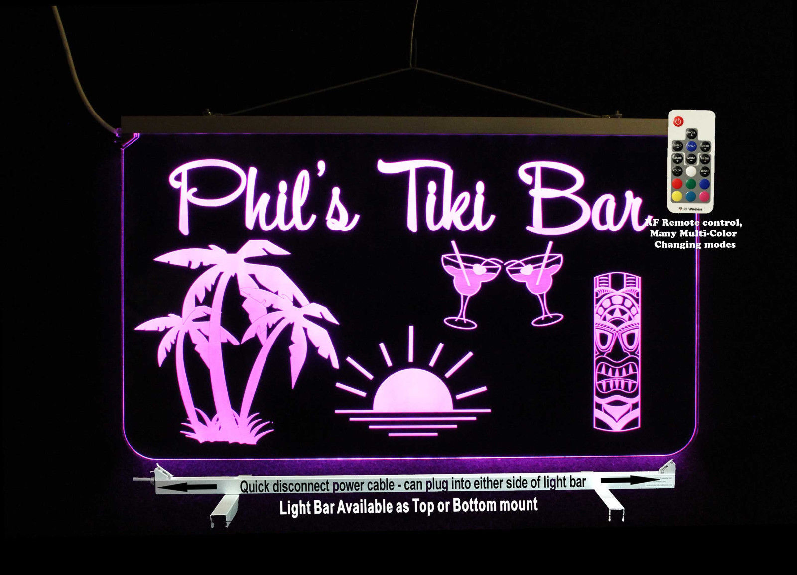 Primary image for Custom Man Cave Sign, Tiki Bar, Palm trees