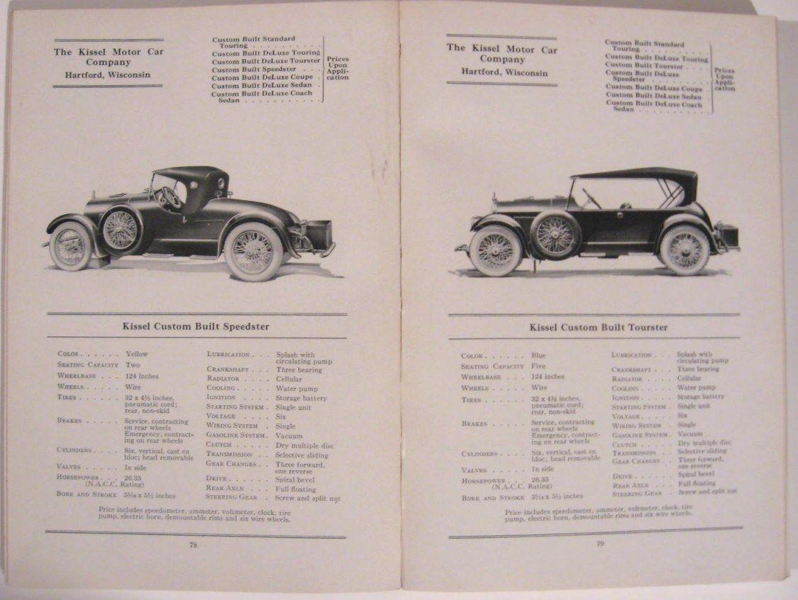 1922 Handbook of Automobiles Hand Book, Cadillac Packard Stutz Auburn Hardcover