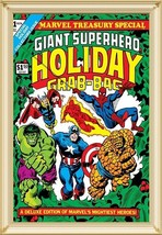 Marvel Treasury #1, 1974, Holiday Grab Bag, Comics Art Painting, Oil on ... - $369.00