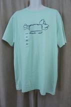 Izod Mens Casual T Shirt Sz L Pastel Green Lobster Roll Short Sleeve Gra... - $12.09