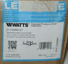 Watts Reduced Pressure Zone Assembly 0391007 BAA Compliant image 6