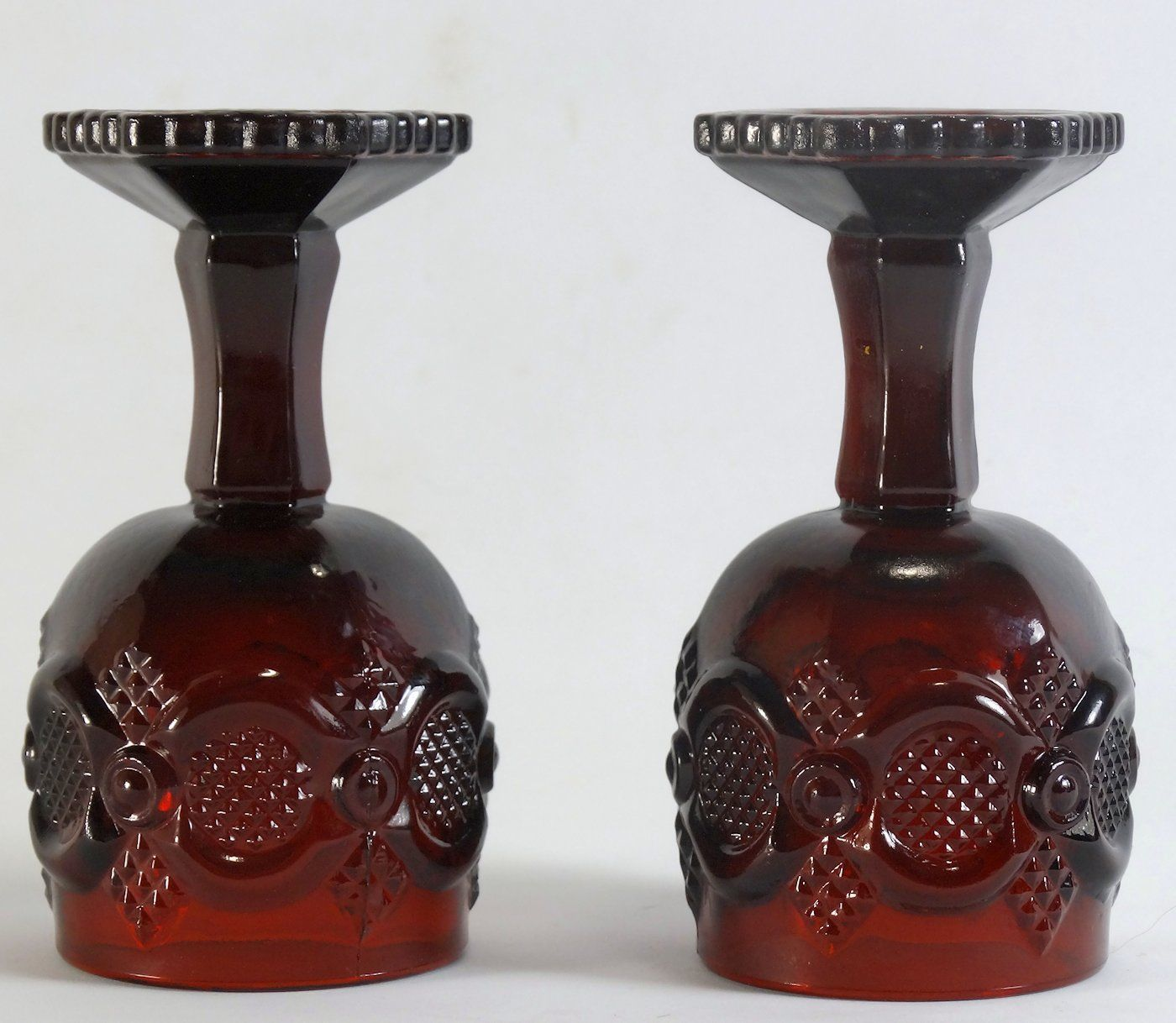 Avon Cape Cod Royal Ruby 4 1/2 Inch Goblet Pair image 3