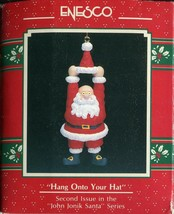 1990 New in Box - Enesco Christmas Ornament - Hang Onto Your Hat - #564397 - $5.44