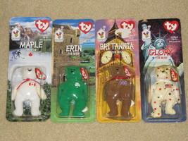 Complete Set of 4 McDonald's 1990s Ty International Bears - NEW, Retired - $9.99