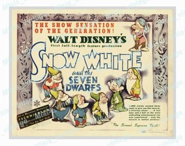 Snow White and the Seven Dwarfs 1937 Vintage Movie Poster Reprint 16 - $5.95+