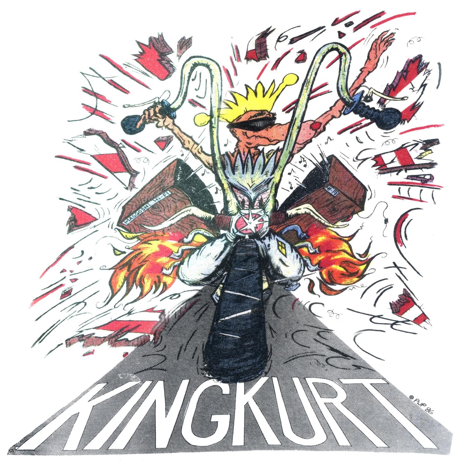 Biker Kurt t-shirt 100% cotton rockabilly king kurt psychobilly cramps retro