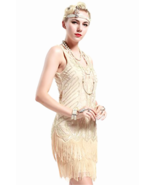 Ladies 1920s Flapper Dress Fringed Great Gatsby Costume & Cocktail Party... - $50.29+