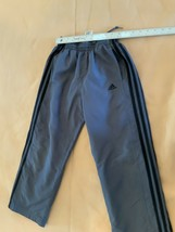 Boys Gray Adidas Athletic Pants With Zipper On Ankle Size Small - $9.49