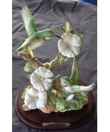 Collectible Wellington Collection Ceramic Hummingbird Figure with Wooden Base - $89.09
