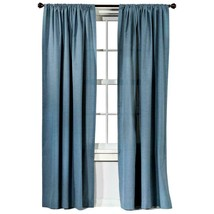 "Threshold 2 Farrah Aqua Blue Solid Drapery Panels 55"" X 84"" Each NWOP - $44.52"