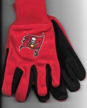Tampa Bay Buccaneers team Sport Utility Gloves red black garden NFL Foot... - $17.77