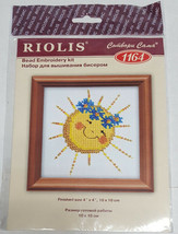 "RIOLIS Happy Sun Dessert Bead Embroidery Cross Stitch Kit 1164 NEW 4"" x ... - $9.99"