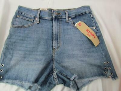 Primary image for NWT Levi's Mile High Short Med Wash Cut Off Rivets Waist 30 Org $49.50