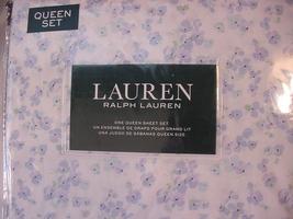 Ralph Lauren Lavender/Blue Violets Country Cottage Floral Sheet Set Queen - $112.00