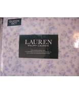 Ralph Lauren Lavender/Blue Violets Country Cottage Floral Sheet Set Queen - $112.00