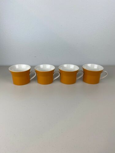 Primary image for Vintage Mid Century Mikasa Duplex by Ben Seibel Set of 4 Mug Orange Japan D3200